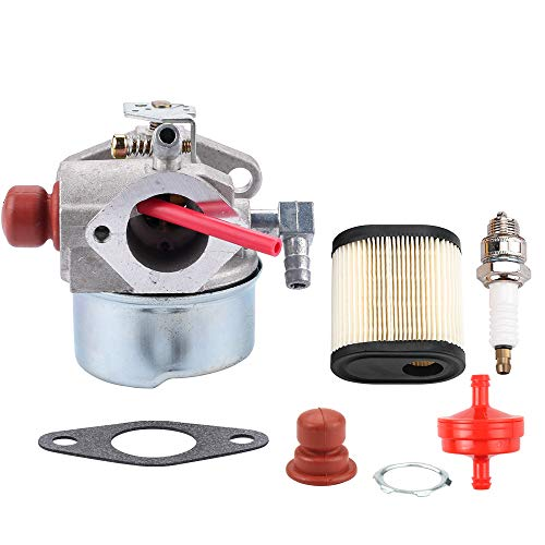 (640350 Carburetor w 36905 Air Filter for Tecumseh 6.75HP LEV100 LEV120 LV195EA LV195XA Engine Toro 20017 20018 20019 20031 20051 20069 20070 20071 20072 20073 20074 Lawn Mower Spark Plug Fuel Filter)