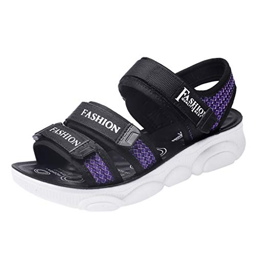 Respctful✿Girl's Fashion Sandals Open-Toe Adjustable Flat Sandal Casual Shoes for Outdoor Sport Sandal Shoes