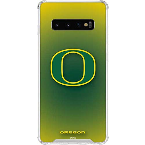 Skinit Oregon Ducks Green Gradient Galaxy S10 Clear Case - Officially Licensed College Phone Case - Transparent Galaxy S10 Cover (Oregon Ducks Phone Cover)