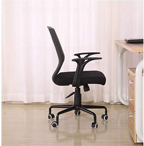 Xiuyun kontorsstol svängbar stol spelstol uppgift skrivbordsstol datorstol, hemmakontor modern andningsbar lyft svart