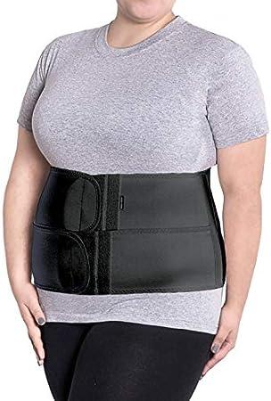 Banda de sujeción abdominal; vendaje de sujeción de espalda; cinturón de sujeción del vientre; altura 24cm Medium Negro
