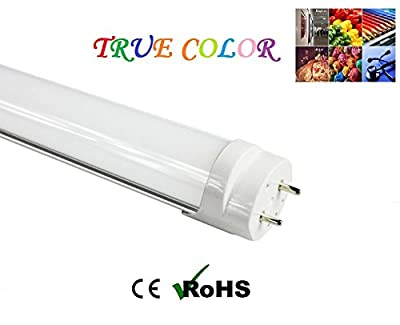 "Fulight True-Color Dimmable ¤ LED F15T8 Tube Light (Rotatable)-18"" (17-3/4"" Actual Length) 1.5FT 7W, Cool White 4000K, Double-End Powered, Frosted Cover, Works from 110-120VAC"