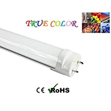 "Fulight Full-Spectrum ¤ LED Tube Light - T8 4FT 48"" 18W (32W Equivalent), Soft White 3000K, F32T8, F34T12/WW, Double-End Powered, Frosted Cover - 110/120V"
