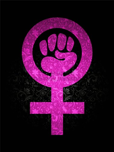 WOMEN POWER GIRL FEMINISM PINK TEXTURE WALLPAPER ART PRINT 12x16