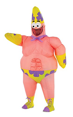 Spongebob Halloween Costume (SpongeBob Movie Deluxe Inflatable Patrick Costume for Kids)