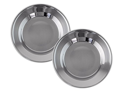 welltree Stainless Steel Plate/Dish Set - Best for Backpacker or Camping, Ideal for Toddlers and Kids by welltree (Image #5)