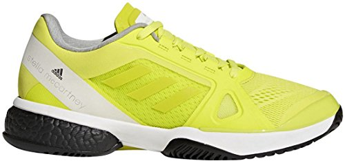 adidas Women's aSMC Barricade Boost Aero Lime/White/Black 9.5 B US