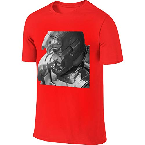 NICOTE Man Designed Novelty Top Iron Man Tony Stark T Shirt Red (Iron Man Durch Die Jahre)