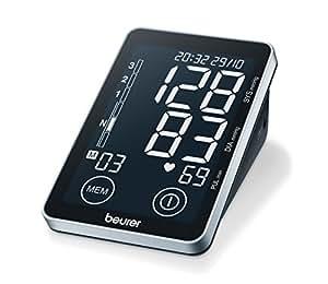 Beurer BM-58 - Tensiómetro de brazo, memoria 2 x 60 mediciones, conexión a PC, touch screen
