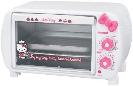 Amazon Com Hello Kitty Kt5225 2 Slice Toaster Oven Kitchen Dining