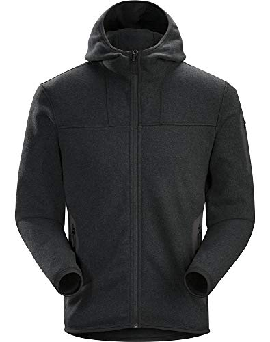 Arc'teryx Men's Covert Hoody Black Heather Large Arcteryx Covert Hoody Jacket
