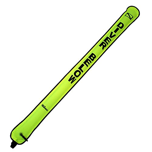 Promate 6 ft Neon Yellow Inflatable Safety Tube Sausage Signal Marker Buoy (Marker Float)
