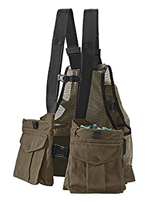 Orvis Waxed-Cotton Strap Vest, Dark Khaki
