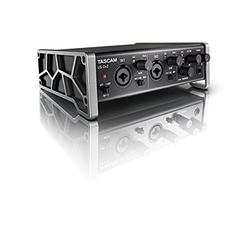 Tascam US-2x2 USB Audio/MIDI Interface with Microphone Preamps and iOS Compatibility (Best Midi Sound Card)