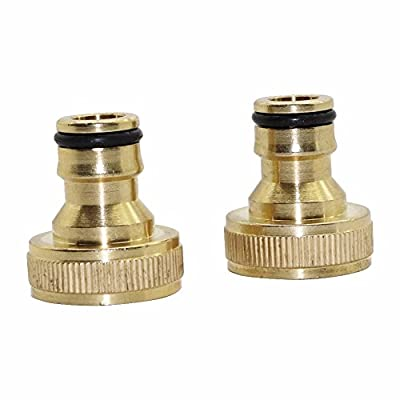 Laliva Copper Nipper Quick Connectors with 3/4'' Female Thread Garden Irrigation Watering Pipe Fitting Adapter Hose Connector 2 Pcs