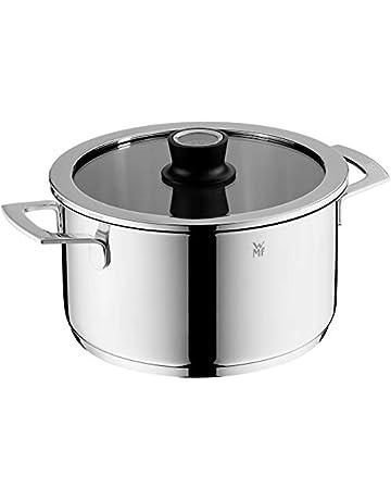 WMF Vario - Olla con base TransTherm apta para todo tipo de cocinas, incluidas las