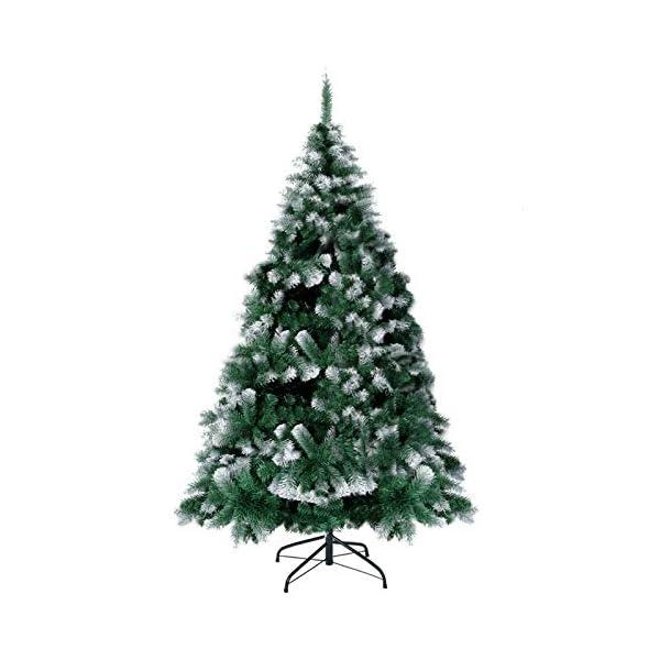 TopVita Albero di Natale Bianco Verde, Albero di Natale Artificiale in PVC Ignifugodi in Diverse Misure (Verde e Bianco, 2,4 Metri) 1 spesavip