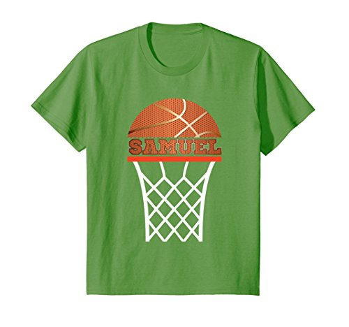 Kids Basketball Apparels | Boy Custom Name Samuel, Youth T Shirt 8 (Custom Youth Anvil)