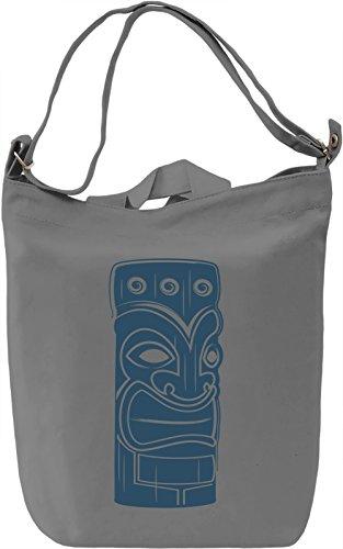 Tiki Borsa Giornaliera Canvas Canvas Day Bag  100% Premium Cotton Canvas  DTG Printing 
