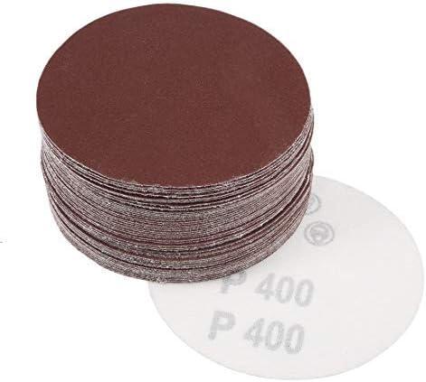 - 4-inch sanding disc, 400 grains, aluminum oxide sandpaper, 50 piece sander paper