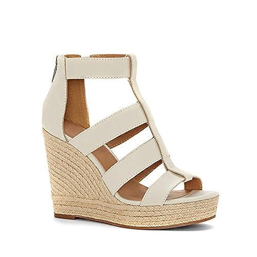 256d4abbdd4f 80%OFF Fashare Womens Peep Toe Platform Wedge Sandals Espadrilles Heels  with Back Zip