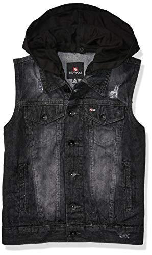 Southpole Kids Jeans - Southpole - Kids Boys' Big Denim Vest, Black Sand Hoodie, X-Large