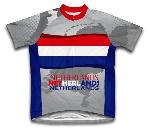 Netherlands Short Sleeve Cycling Jersey for Men - Size (Netherlands Away Jersey)