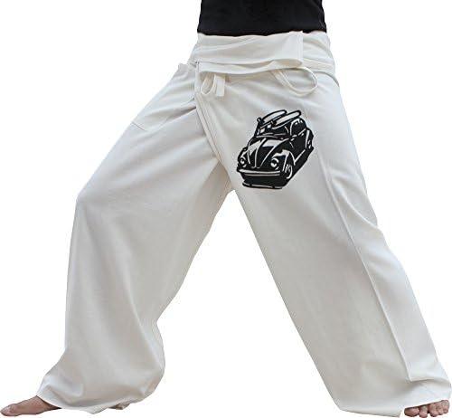 Raan Pah Muang RaanPahMuang Warm Cotton Thai Fisherman Pants With VW Beach Buggy Print Tall variant31000AMZ