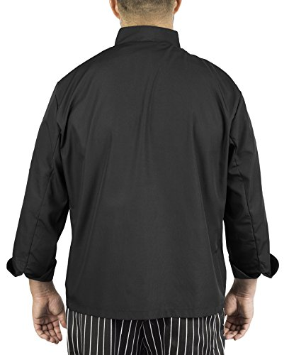 KNG Black Lightweight Long Sleeve Chef Coat by KNG (Image #1)