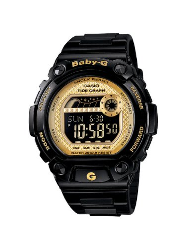 Casio Women's BLX100-1C Baby-G Shock Resistant Glide Black and Yellow Multi-Function Watch