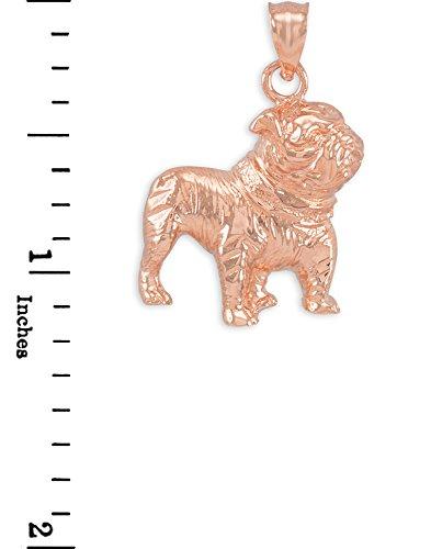 Petits Merveilles D'amour - 10 ct 471/1000 Or Rose Chien Bull Pendentif