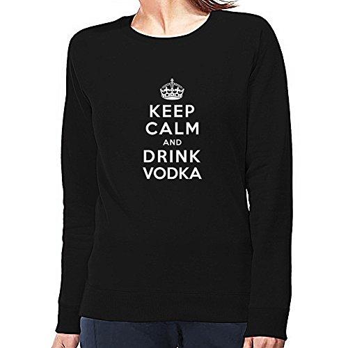 Eddany Keep calm and drink Vodka Felpa Donna