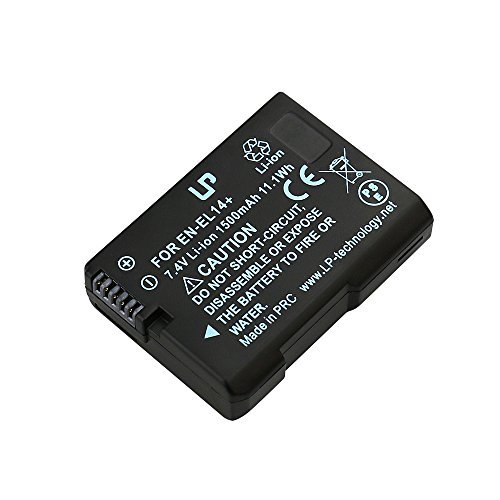 EN-EL14 EN EL14a LP Battery, Compatible with Nikon D3100, D3200, D3300, D3400, D3500, D5100, D5200, D5300, D5500, D5600, Df DSLR, Coolpix P7000, P7100, P7700, P7800 Cameras and MH-24 Charger