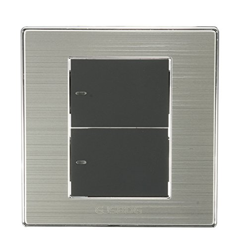 New GJSBDG Stainless Steel LED Wall Switch Panel 250V 10A - Two Switch Single Control