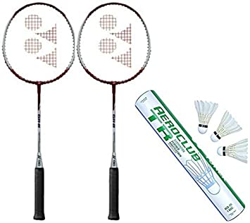 226046b90e2 ... Badminton Racquet and One Box  Aeroclub TR  Feather Shuttlecock (Pack  of 12) (Color On Availability) Badminton Kit  Amazon.co.uk  Sports    Outdoors