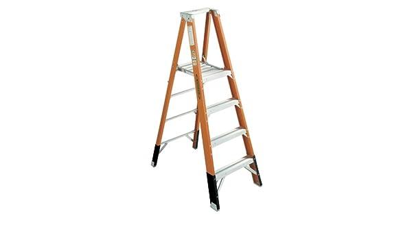 Werner P7404 375-pound deber calificación tipo IAA Fibra de vidrio plataforma escalera con plataforma en 4 pies: Amazon.es: Bricolaje y herramientas