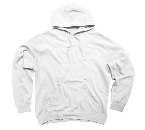 Lotus and Butterfly Men's Medium White Graphic Pullover Hoodie (Butterfly Graphic Hoodie)