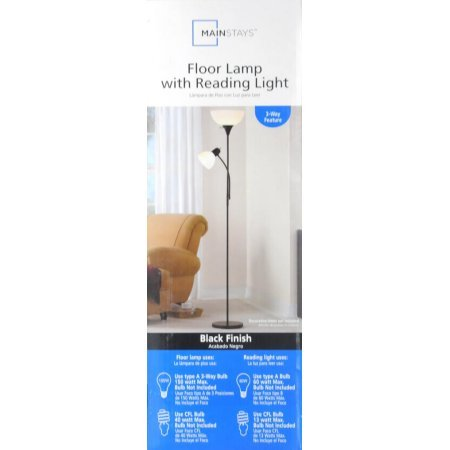 Mainstays 72'' Combo Floor Lamp, Black