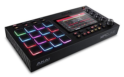 Akai Professional MPC Live – Ultra-Portable Fully Standalone MPC With 7-Inch Multi-Touch Display, 16GB On-Board Storage, Rechargeable Battery, Full Control Arsenal and 10GB Sound Library Included