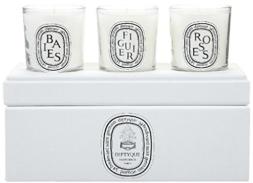 Diptyque Votive Candle Trio-Baies, Figuier, Roses-3 ct. by Diptyque (Image #1)'