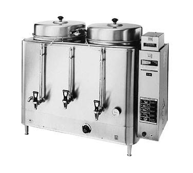 - Grindmaster Cecilware Coffee Brewer Urn, Double, Electric, (2) 10 Gallon Capacity Tanks, Pump style brew system - Specify Voltage