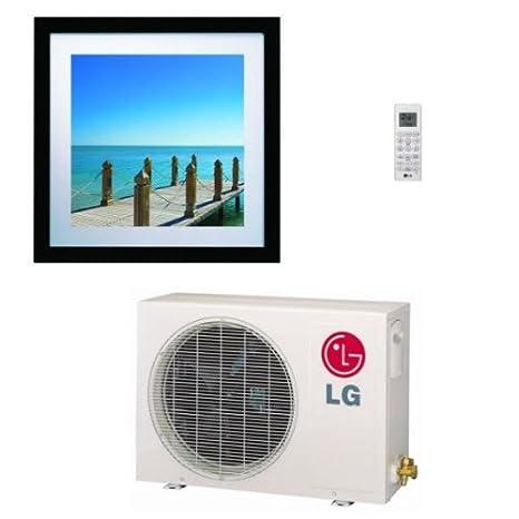 LG la090hvp ductless aire acondicionado, 16 Seer single-zone Art Cool imagen Mini Split sistema w/bomba de calor - 9.000 BTU: Amazon.es: Hogar