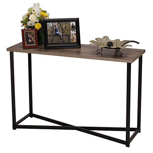 Household Essentials 8071-1 Ashwood Sofa Table Console Table for Entryway Gray-Brown