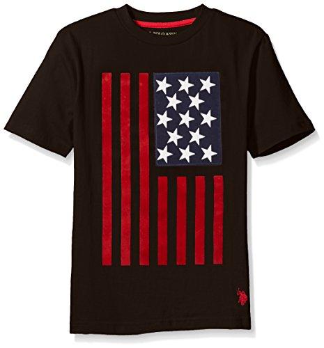 U.S. Polo Assn. Boys' Crew Neck Iconic Graphic Logo T-Shirt,Black,10/12 ()