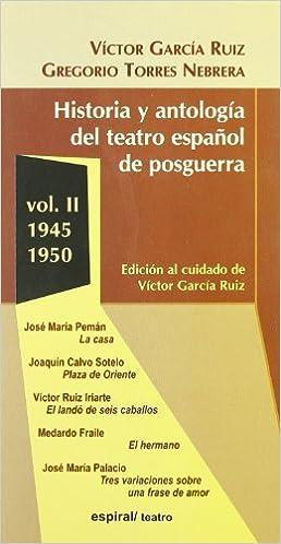 Libros Descarga Gratuita Pdf Historia Y Antologia Del Teatro Espanol