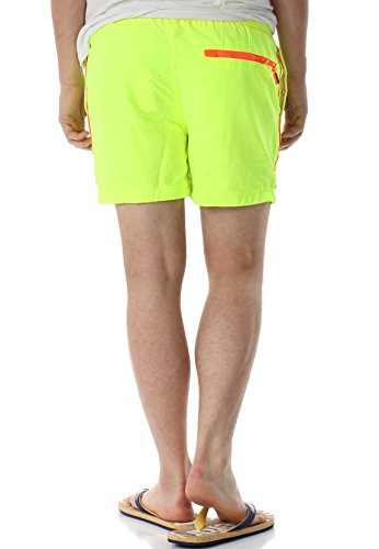 Homme Vêtements Beach Bain Short amp; Superdry Sous Volley Maillots Jaune De Oqwg16dx
