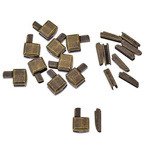 Alloy Metal Zipper #8 10Pcs Repair Open End Zipper Stopper Tailor for Zip Sewing Replacement Clothes Pants Jackets Tent DIY (2-Bronze #8)