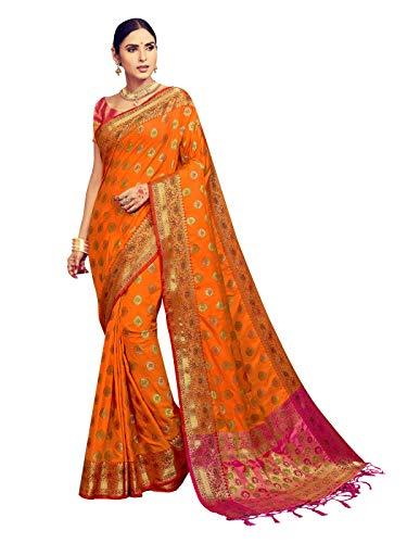 - Sarees for Women Banarasi Kanjivaram Art Silk Woven Saree l Indian Ethnic Wedding Gift Sari with Unstitched Blouse