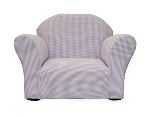 KEET Roundy Rocking Kid's Chair Gingham, Lavender by Keet by Keet (Image #1)