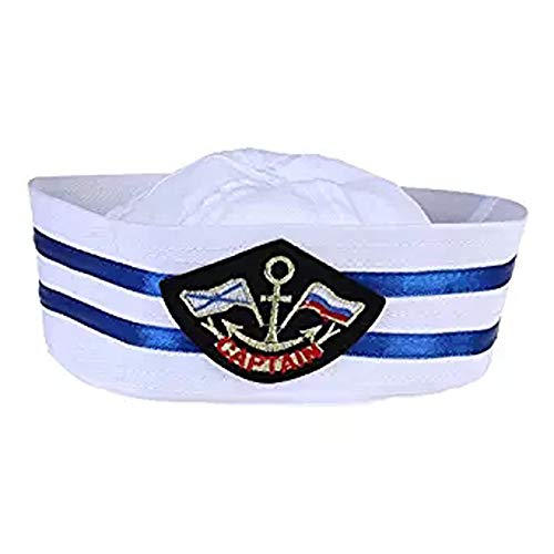 BinaryABC Halloween Costume Accessory,Kids Sailor Captain Hat,Skipper Navy Marine Yacht Cap Hat(54cm) -
